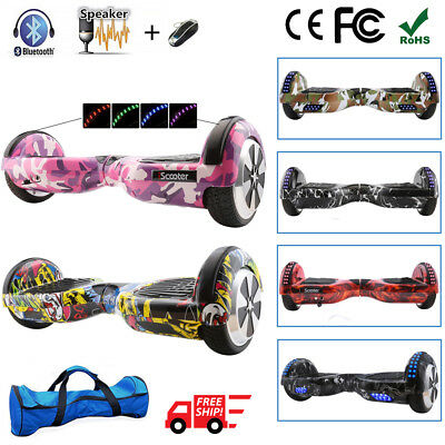 Self Balancing Scooter Electric 2 Wheels Balance Board Bluetooth Scooter+Bag+Led