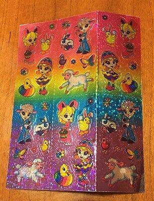 Lisa Frank Sticker Sheet Easter Shiny