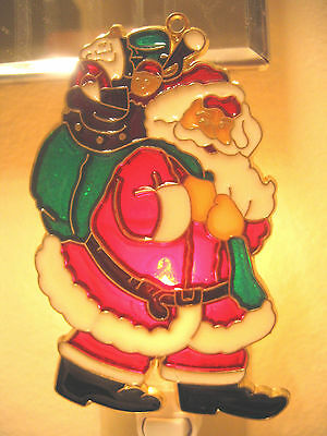 """Stained Glass Style """"christmas""""  Night Light-Great Gift For All-Unique Design!"""