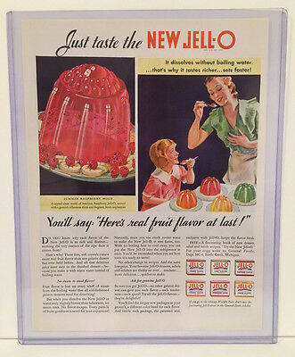 Original 1933 Jello Advertisement Vintage Color Ad - Jell-o