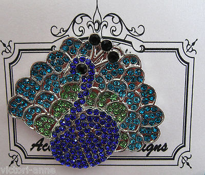 Accoutrement Designs Peacock Bird Needle Minder Magnet Mag Friends Ltd Ed