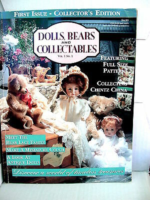 DOLLS BEARS  & COLLECTABLES  techniques patterns clothes tips ideas VOL 1  NO 1