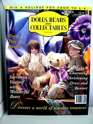 DOLLS BEARS  & COLLECTABLES  techniques patterns clothes tips ideas VOL 1  NO 6