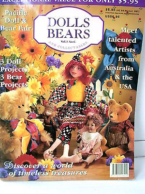DOLLS BEARS  & COLLECTABLES  techniques patterns clothes tips ideas VOL  3  NO 6