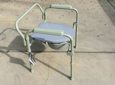 Commode Chair Stationary w/fixed arms 350 lbs capacity. Brand new chair.