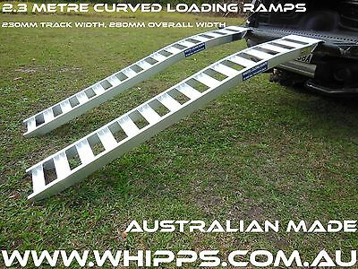 1 Tonne Capacity Curved Mower Loading Ramps 2.3 metres long x 280mm wide