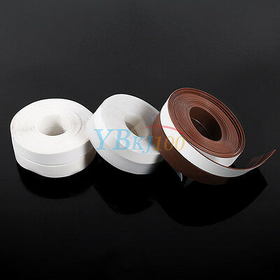 Self-Adhesive 5M Silicone Rubber Wind Weather Strip Window Door Sealing Tape LJ