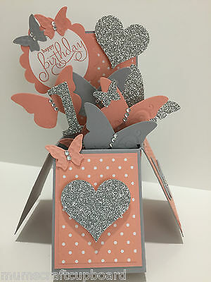 Stunning Handmade Butterfly Card in Box