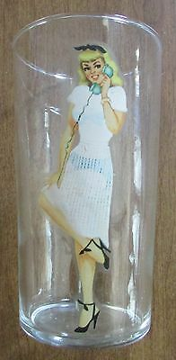 Vintage 1960S Bar Barware Nudie Nude Girl Pinup Risque Glass