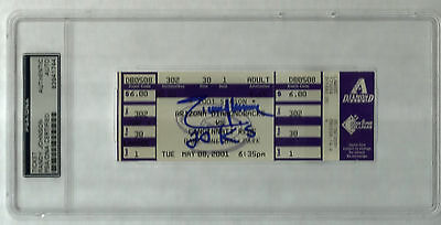 Randy Johnson signed autographed 2001 20 STRIKE OUT GAME Full Ticket  Insc 20 Ks