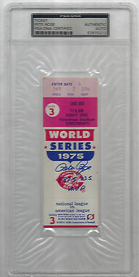 "Pete Rose signed autographed 1975 World Series Ticket Stub insc ""1975 W.S MVP"""
