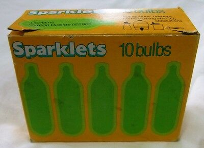 Sparklets Soda Syphon Bulbs - Vintage - Boxed - 8 bulbs