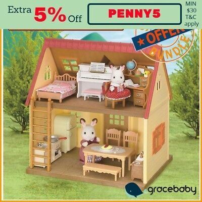 Package Deal - Sylvanian Families Cosy Cottage Starter Home & Furniture