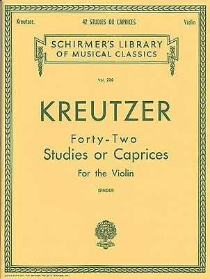 Rodolphe Kreutzer: Forty-Two Studies Or Caprices (Violin). Sheet Music