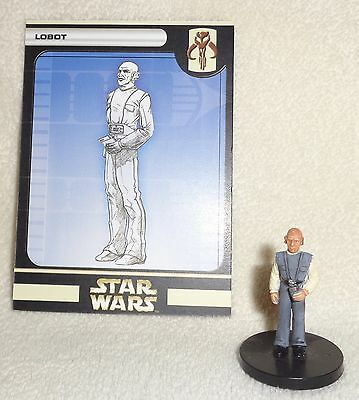 Star Wars Miniatures UNIVERSE LOBOT #22 Cloud City Officer with Card * WOTC MINT