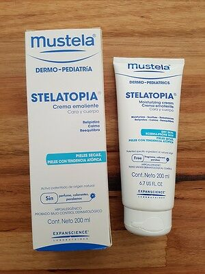 Brand New Mustela Stelatopia Moisturizing Cream 200Ml - Free Postage
