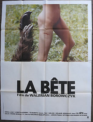 THE BEAST - LA BETE (1975) Large Original French Movie Poster Borowczyk Cult