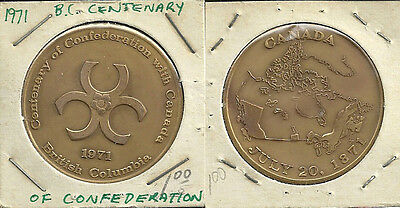 1971 British Columbia Centenary of Confederation with Canada Medal