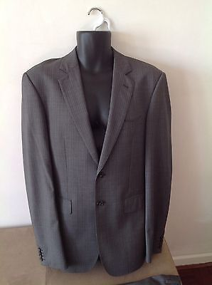 Mens Country Road Grey Pinstripe Suit size 38 ....2 button....