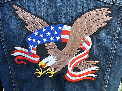 GRAND ECUSSON PATCH THERMOCOLLANT aufnaher toppa / AIGLE BANNIERE USA biker rock