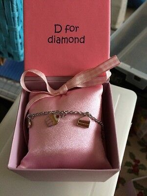 BNIB D For Diamond Silver Sweetie Baby Girl Bracelet