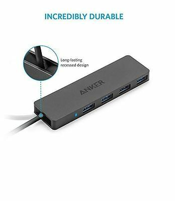 Anker Ultra Slim Compact 4-Port USB 3.0 3 Hub Super Speed Data 4 in 1 Adapter