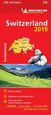 Switzerland 2018 National Map 729 by Michelin - Folded Sheet Road Map