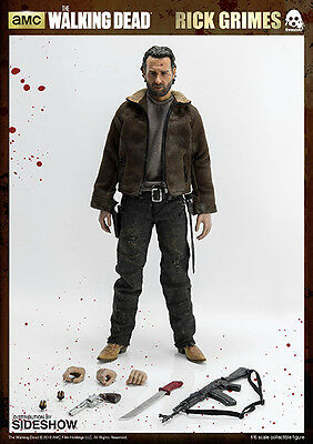 Rick Grimes The Walking Dead Threezero Action Doll Tipo Hot Toys 30 Cm Scale 1/6
