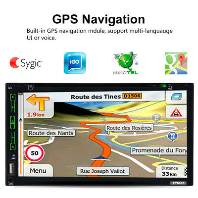 """6.95"""" Universal Android 4.4 GPS Coche DVD Reproductor BT USB SD AUX WIFI FM 2Din"""