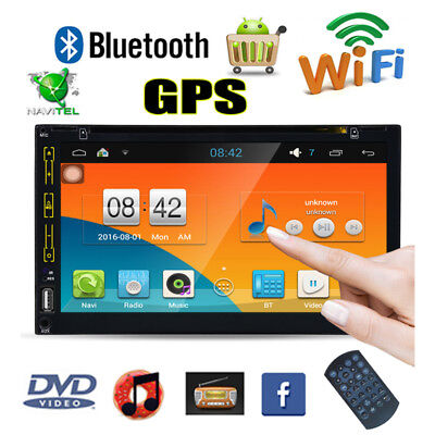 "6.95"" 2 Din Android 4.4 WiFi Autoradio Bluetooth GPS DVD MP3 USB CD Navigation"