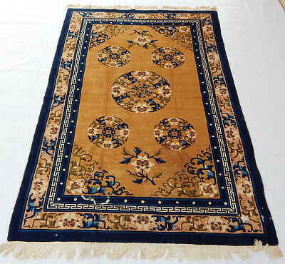 ANTIQUE ART DECO CHINESE HAND MADE RUG 245X158cm (R7)