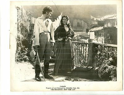 TWO 1945 Vintage Movie Photo Actor Jean Marais & Viviane Romance In CARMEN