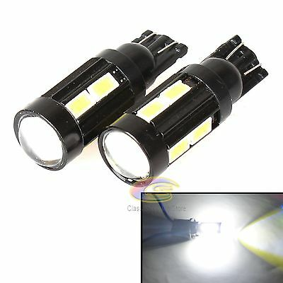 2x 10 SMD 5630 LED T10 168 194 W5W Car Light Parker Backup Door Super White Bulb