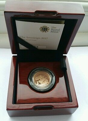 2017 Royal Mint Special Half Sovereign Proof Coin in 22 Carat Gold