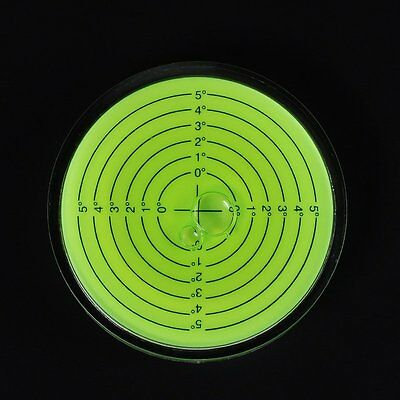 Green 75x15mm Disc Bubble Spirit Level Round Circle Circular Level For Measuring