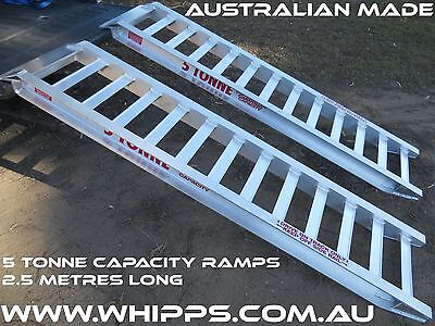 5 Tonne Capacity Machinery Loading Ramps 2.5 Metres x 450mm track width