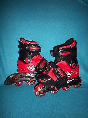 No Fear Adjustable Inline Skates Size 1-4 Ipswich