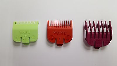 Wahl Colour Clipper Attachment Comd Guard X 3 - Sizes: 0.5 , 1 , 1.5