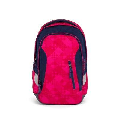 Satch Schulrucksack Sleek Cherry Checks