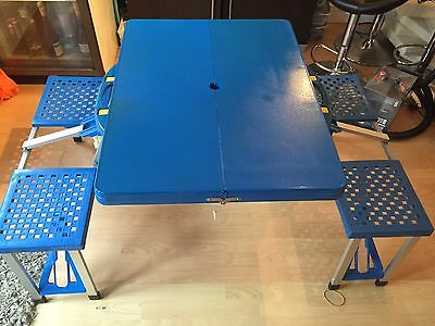 Camping table folding