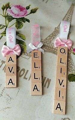 Personalised Christening Gift Tag Keepsake Baby  Girl Baby Shower Gifts