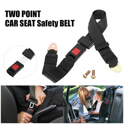Universal 2 Point Car Van Truck Seat Lap Belt Two Point Adjustable Safety Buckle