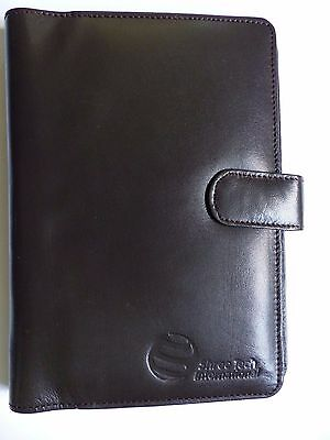 Business Card Wallet / Folder, NEW, Brown Leather, high quality, stud closure
