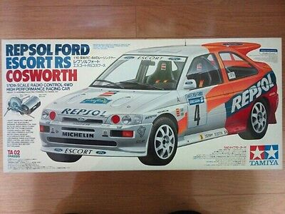 Vintage Tamiya Repsol Ford Escort Rs Cosworth 1/10 No.58176 Rs-540 Motor In