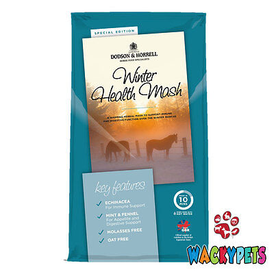 Dodson & Horrell Winter Health Horse Mash 12kg x 1 or 2. With Echinacea & Mint