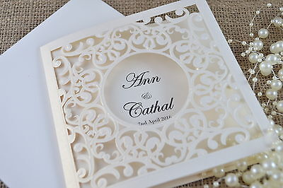 Laser Cut Personalised Wedding Invite Day