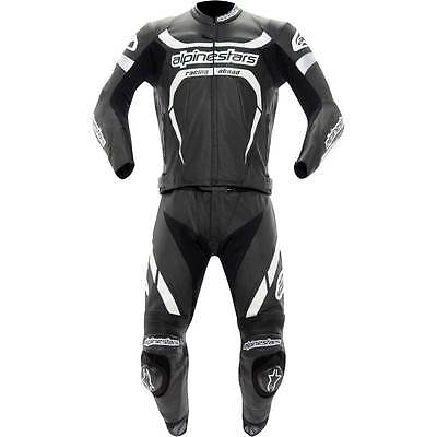 Motorcycle Alpinestars Leathers 2-Piece Motegi Black White 48 UK Seller