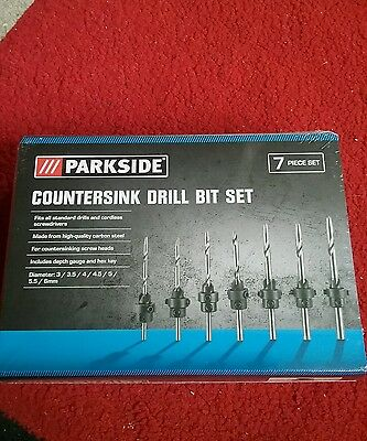 Parkside Countersink Drill Bit Set, new and sealed