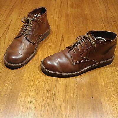 Mens Camel Boots in Leather Size UK 8.5