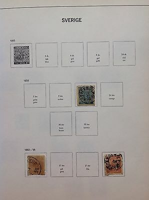 Swedish Sweden Stamp Collection 1858 to 1936